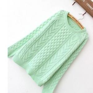 Mint green knitted sweater/NFJT0072